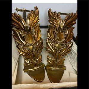 giuseppe zanotti cruel summer gold heel sandal